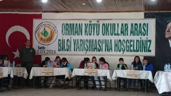 orman-koyu-okullar-arasi-bilgi-yarismasi-yapildi